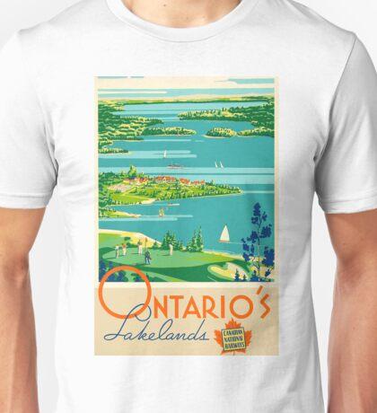 Ontario Vintage Travel Poster Unisex T-Shirt