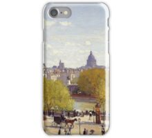 Claude Monet - Wharf Of Louvre Paris 1867 iPhone Case/Skin