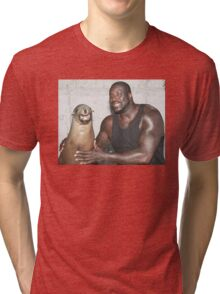 Shaq and Sea Lion Tri-blend T-Shirt