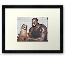 Shaq and Sea Lion Framed Print