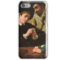 Caravaggio - The Cardsharps ( 1595)  iPhone Case/Skin