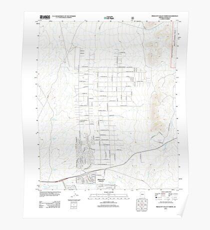USGS TOPO Map Arizona AZ Prescott Valley North 20120518 TM Poster