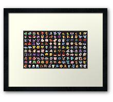 Poke Chibis 151 Framed Print