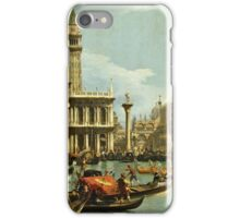 Canaletto Bernardo Bellotto - Bucentaurs return to the pier by the Palazzo Ducale 1728 - 1729  iPhone Case/Skin