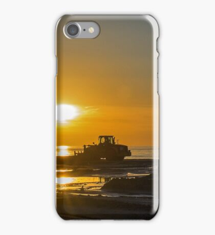 Workers at sunset iPhone Case/Skin