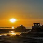 Workers at sunset by Adri  Padmos