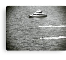 Jet Skis and Boat Metal Print