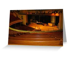 Inside Ryman Auditorium, Nashville, Tennessee Greeting Card