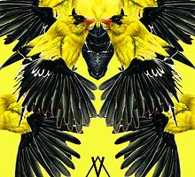 Birds in yellow by Leyre Valiente