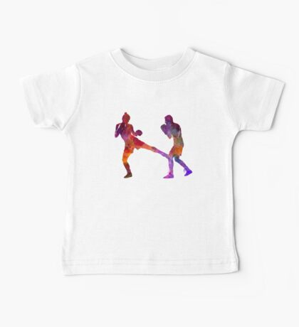 woman boxer boxing man kickboxing silhouette isolated 02 Baby Tee