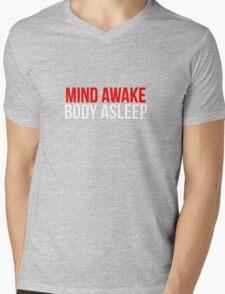 Mind Awake, Body Asleep // Mr Robot Mens V-Neck T-Shirt