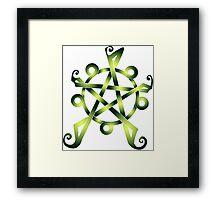 Celtic Knot Earth Pentagram Framed Print