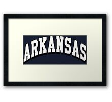 Arkansas Classic AR Framed Print