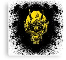 hannya mask  splatter Canvas Print