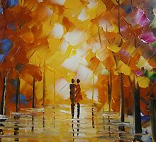 Lovers Walk in the Park by Meaghan Louise