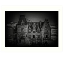 Adams Family Mansion Art Print