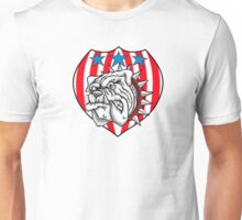 red white bulldog Unisex T-Shirt