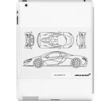 McLaren P1 - BluePrint iPad Case/Skin