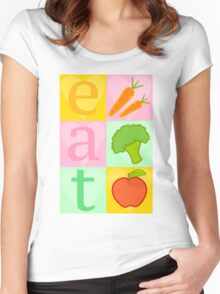 Eat your Vegetables! Women's Fitted Scoop T-Shirt