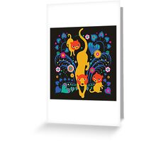 Big CAT mama Greeting Card