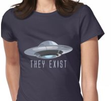 They Exist UFO Womens Fitted T-Shirt