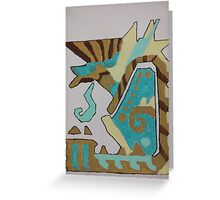 Monster hunter zinogre canvas painting Greeting Card