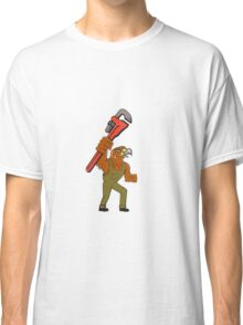 Hawk Plumber Wrench Cartoon Classic T-Shirt