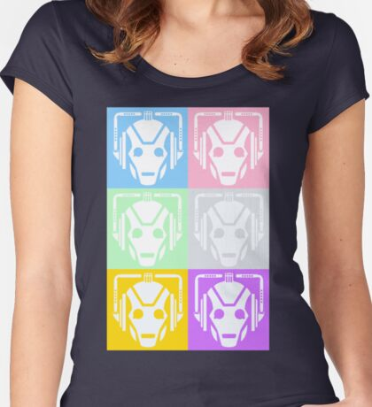 Doctor Who Cyberman Women's Fitted Scoop T-Shirt