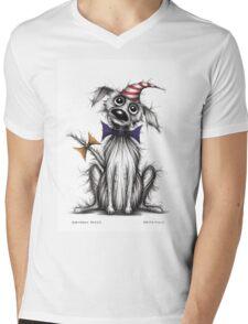 Birthday pooch Mens V-Neck T-Shirt