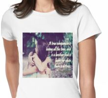True Companion/Friend Womens Fitted T-Shirt