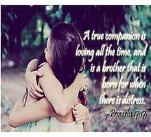 True Companion/Friend Photographic Print