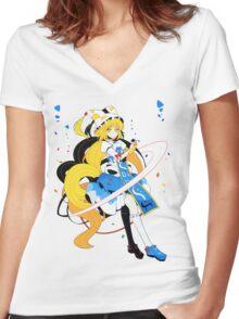Touhou - Ran Yakumo Women's Fitted V-Neck T-Shirt