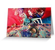 Hollow Yves Siren Dress Angler Fish Skull Bow Greeting Card