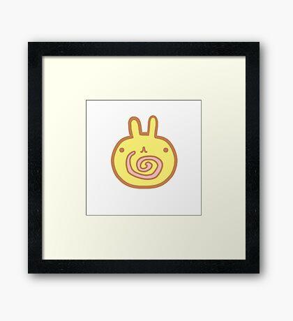 Kawaii Bunny Cake Framed Print