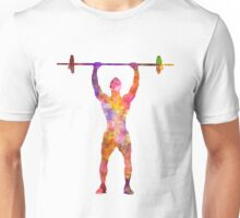 Body buiding man isolated  Unisex T-Shirt