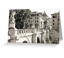 Rome - Ponte Sant'Angelo Greeting Card