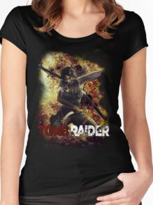 Tomb Raider Women's Fitted Scoop T-Shirt
