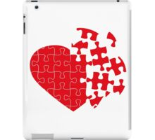 Red Broken puzzle heart iPad Case/Skin