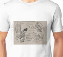 Anonymous - The Daoist Sage Kume - Circa 1690 - Woodcut Unisex T-Shirt