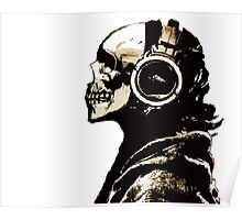 SKULL HEADPHONES  (abel in all colors) Poster