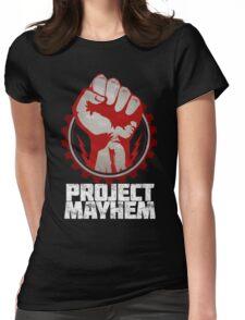 Fight Club Project Mayhem Design Womens Fitted T-Shirt