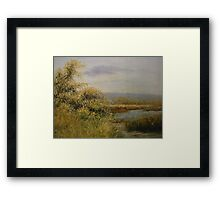 A Walk by the Lake - Representational Landscape Framed Print