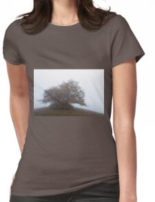 So much morning fog on Monte San Vicino Womens Fitted T-Shirt