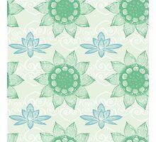 Om Design,lotus flower, Photographic Print