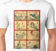 Anonymous - Various Types of Birds - Circa 1900 - Woodcut Unisex T-Shirt