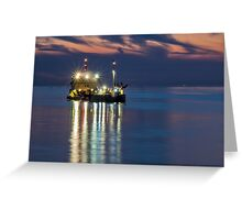 Suction dredger Greeting Card