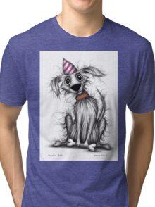 Fluffy dog Tri-blend T-Shirt