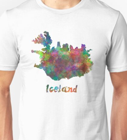 Iceland in watercolor Unisex T-Shirt