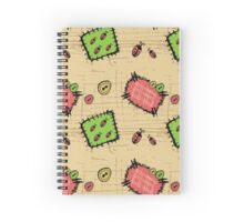 Hand drawn Patches Seamless background.  Spiral Notebook