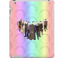 All 13 Doctor Who's in the flat colour style - T-shirt iPad Case/Skin